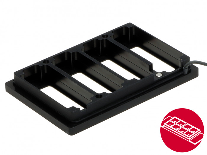 Heated Plate, Universal Fit, for 4 µ-Slides