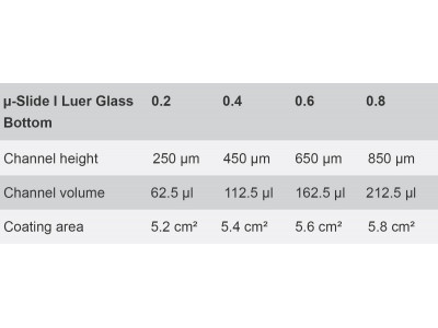 µ-Slide I Luer Glass Bottom